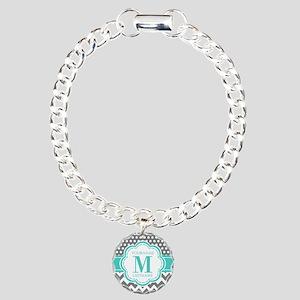 Personalized Polka Dots Charm Bracelet, One Charm