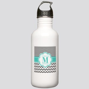 Personalized Polka Dot Stainless Water Bottle 1.0L