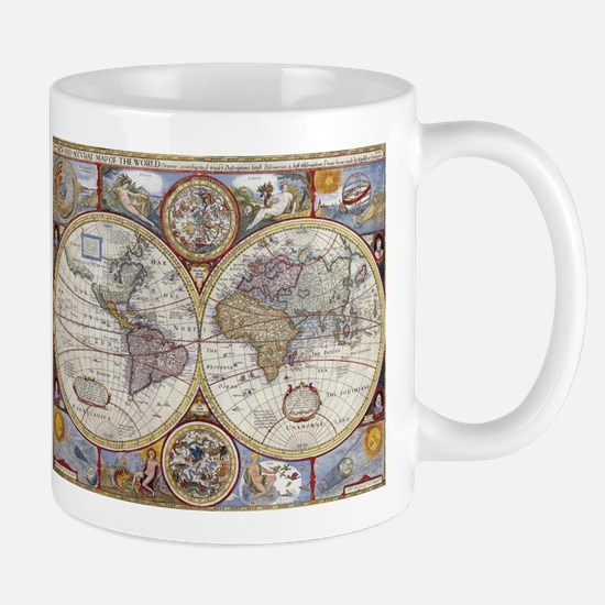 Vintage Map of The World (1626) Mugs