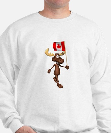 Cute Canadian Moose Sweatshirt