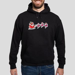 Santa's Sleigh Flamingo Reindeer Florid Sweatshirt