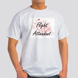 Flight Attendant Artistic Job Design with T-Shirt
