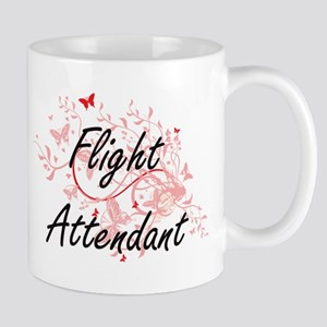 Flight Attendant Artistic Job Design with But Mugs
