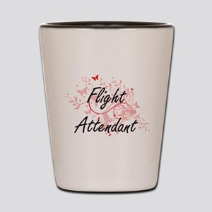Flight Attendant Artistic Job Design wi Shot Glass