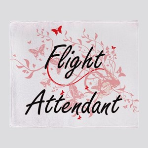 Flight Attendant Artistic Job Design Throw Blanket