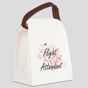 Flight Attendant Artistic Job Des Canvas Lunch Bag