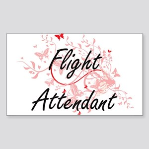 Flight Attendant Artistic Job Design with Sticker
