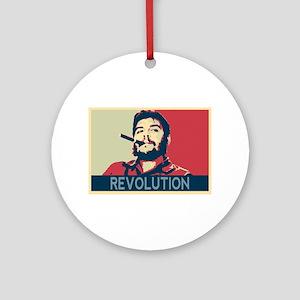 Che Guevara, hope poster landscape Round Ornament