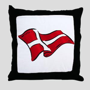Flag of Denmark Throw Pillow
