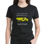 Christmas Rock Truck Women's Dark T-Shirt