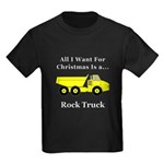 Christmas Rock Truck Kids Dark T-Shirt