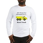 Christmas Rock Truck Long Sleeve T-Shirt