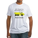 Christmas Rock Truck Fitted T-Shirt