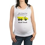 Christmas Rock Truck Maternity Tank Top