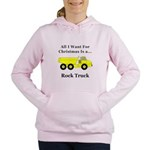 Christmas Rock Truck Women's Hooded Sweatshirt