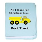 Christmas Rock Truck baby blanket