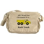 Christmas Rock Truck Messenger Bag