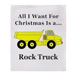 Christmas Rock Truck Throw Blanket