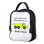 Christmas Rock Truck Neoprene Lunch Bag