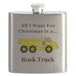 Christmas Rock Truck Flask