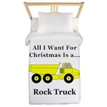 Christmas Rock Truck Twin Duvet