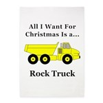Christmas Rock Truck 5'x7'Area Rug