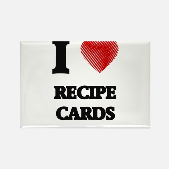 I Love Recipe Cards Magnets