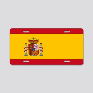 Spanish Flag Aluminum License Plate