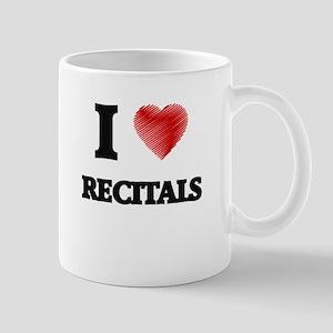 I Love Recitals Mugs