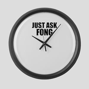Just ask FONG Large Wall Clock