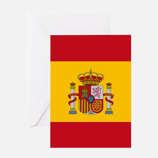 Spanish Flag Greeting Cards