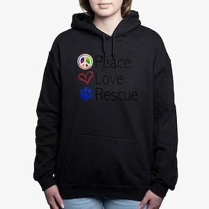Peace Love Rescue Women's Hooded Sweatshirt