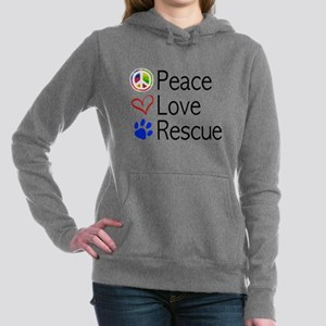 Peace Love Rescue Women's Hooded Sweatshirt