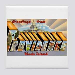Providence Rhode Island Greetings Tile Coaster
