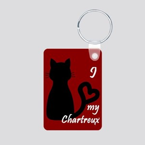 Chartreux Cat Heart Keychain Keychains