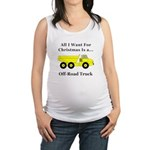 Christmas Off Road Truck Maternity Tank Top