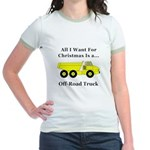 Christmas Off Road Truck Jr. Ringer T-Shirt