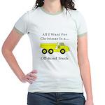 Christmas Off Road Truck Jr. Ringer T-Shirt