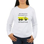 Christmas Off Road Tru Women's Long Sleeve T-Shirt