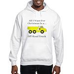 Christmas Off Road Truck Hooded Sweatshirt
