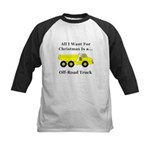 Christmas Off Road Truck Kids Baseball Jersey
