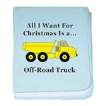 Christmas Off Road Truck baby blanket
