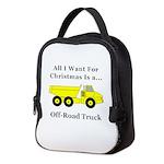 Christmas Off Road Truck Neoprene Lunch Bag