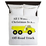 Christmas Off Road Truck Queen Duvet