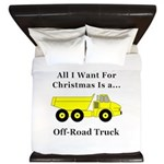 Christmas Off Road Truck King Duvet