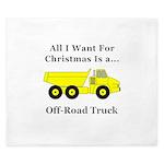 Christmas Off Road Truck King Duvet