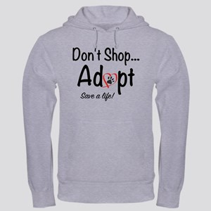 Dont Shop, Adopt Mens Hoodie Hooded Sweatshirt