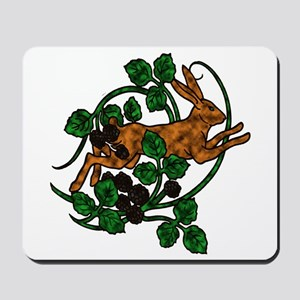 Hare and Blackberries Mousepad