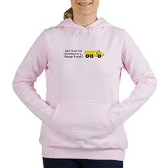 Christmas Dump Truck Women's Hooded Sweatshirt