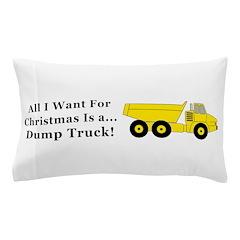 Christmas Dump Truck Pillow Case